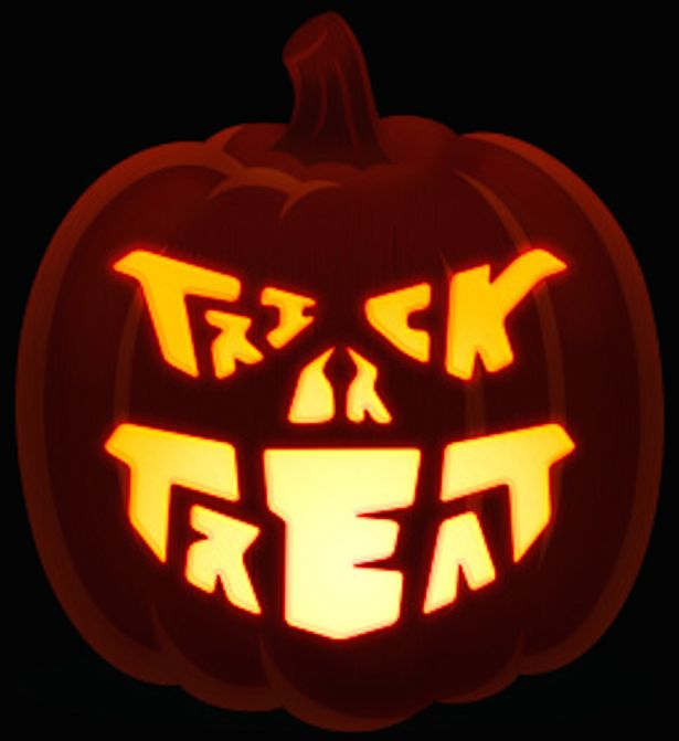 Trick or Treat Pumpkin Design
