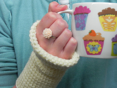 Tunisian Crochet Fingerless Gloves Pattern