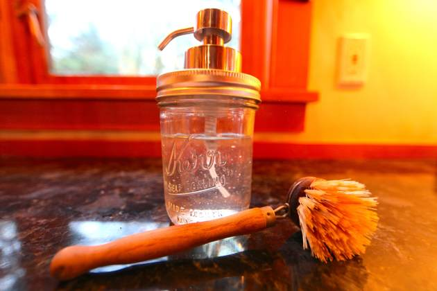 Turn Mason Jar into Soap Dispenser