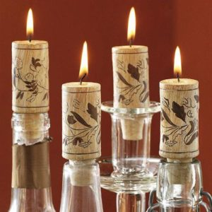 Upcycled wine cork Candle Tutorials