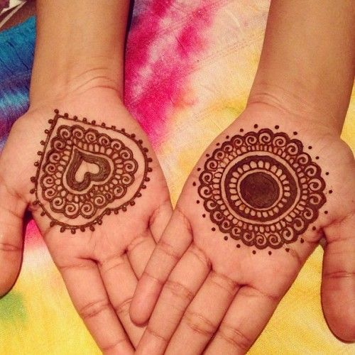 Very Easy Mehndi Designs for Kids