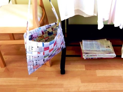 Woven Newspaper Bag Tutorial