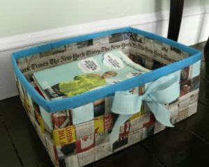 Woven Newspaper Basket Tutorials