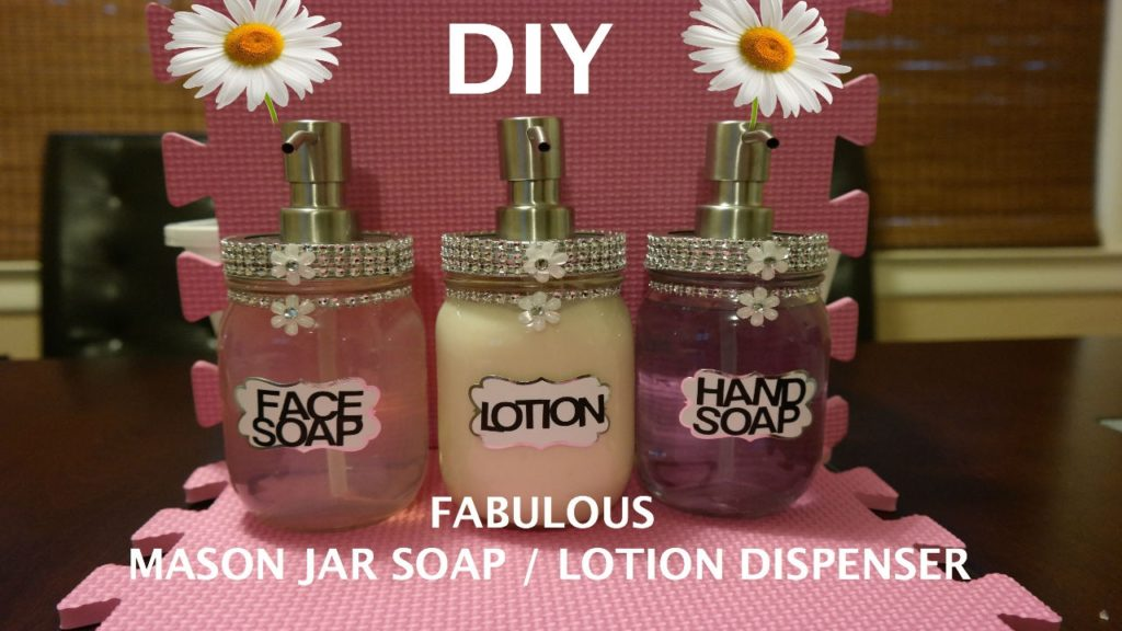 Youtube Mason Jar Soap Dispenser Tutorial