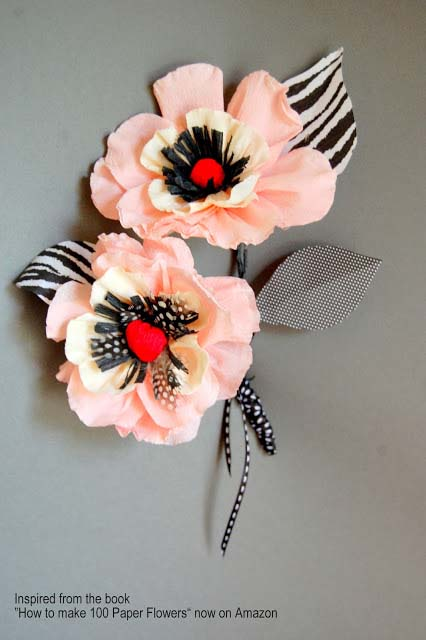 DIY crepe paper lily flowers