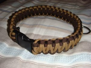2 Color Paracord Dog Collar