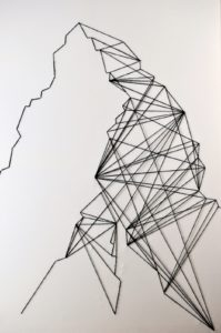Abstract String Art Pattern