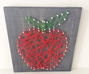 Apple String Art Printable Template
