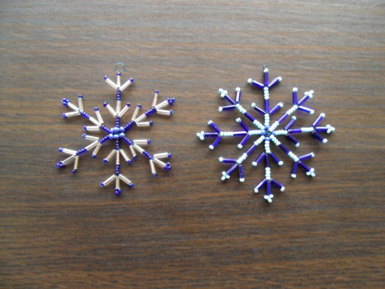 Beaded Wire Snowflake Patterns ImageBeaded Wire Snowflake Patterns Image
