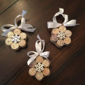 Beautiful Snowflake Wine Cork Ornaments
