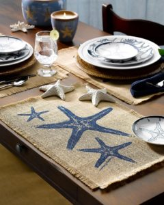 Burlap Coastal Placemat Ideas