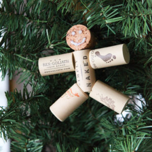 Champagne Cork Ornaments Designs for Christmas