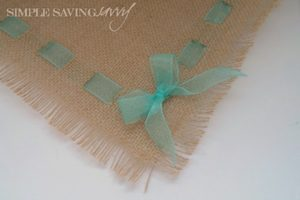 Colored Burlap Placemats