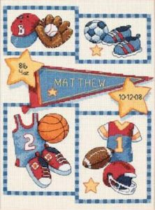 Buy Counted Cross Stitch Kits Birth Record