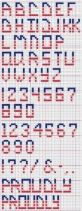 Counted Cross Stitch Patterns with Alphabets