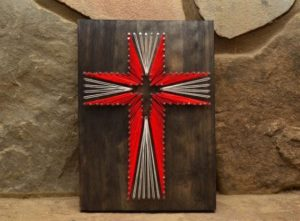 Cross String Art Pattern