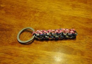 Cross Weave Paracord Keychain DIY