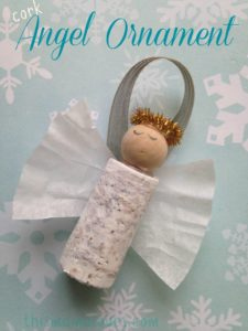 Cute Wine Cork Angel Ornaments