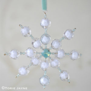 DIY Beaded Snowflake Pattern Tutorial