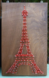 DIY Eiffel Tower String Art Design