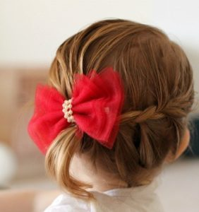 DIY Hair Bows for Valentines
