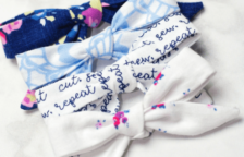 DIY Hair Bows out of Fabric