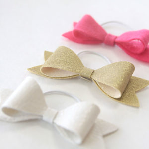 DIY Hair Bows with Leather