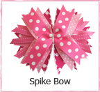 DIY Spiked bow Hair Pin