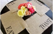 DIY Stenciled Burlap Placemat