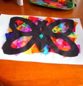 DIY Tissue Paper Butterfly Art Project