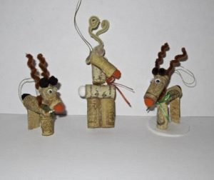 DIY Wine Cork Animal Ornaments