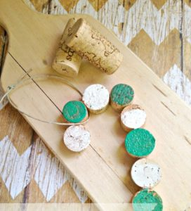 DIY Wine Cork Candy Cane Ornament