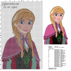 Disney Cartoon Counted Cross Stitch Patterns