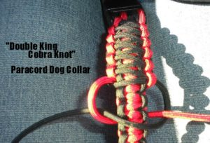 Double King Cobra Knot Paracord Dog Collar