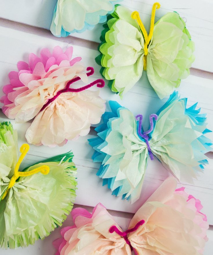 paper butterfly craft ideas 16 diys amp tutorials how to make tissue paper butterflies 5072