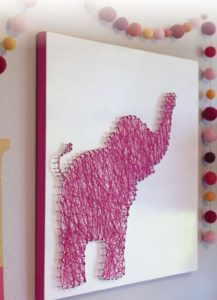 Elephant String Art Pattern DIY