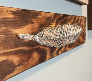 Feather Shaped String Art