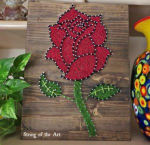 Flower String Art Design