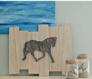 Horse String Art Template Wall Decor