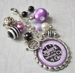 How to Make Bottle Keychains with Beads