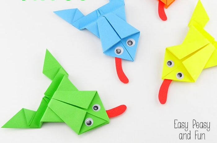 Origami frog that jumps long - Japanese paper Jumping Frog - YouTube | 463x700