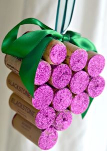 How to Make Wine Cork Grape Ornaments