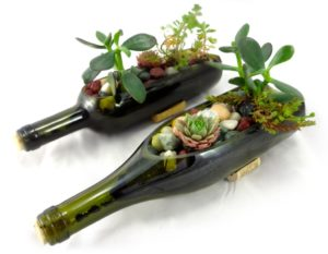 How to make Horizontal Wine Bottle Planter