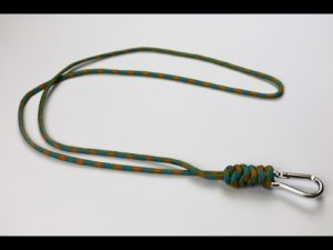 How to make snake knot paracord neck lanyard