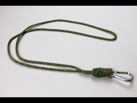 20 diy paracord neck lanyard patterns tutorials for How to make a paracord lanyard necklace