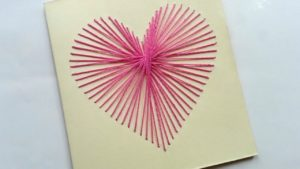 How to make string art Card