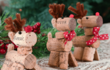 Make Wine Cork Reindeer