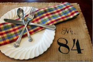 Make Your Own Burlap Placemats