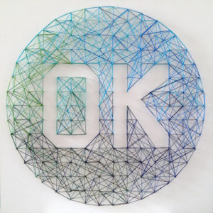 Ombre String Art Pattern