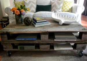 Pallet Coffee Table Design with Storage